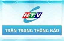 Thông Báo Bảo Trì Nâng Cấp Máy Chủ Website HTVC.VN