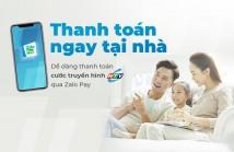 Thanh toán cước Truyền hình HTVC qua Ví điện tử ZaloPay